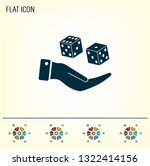 cubes for the game vector icon. | Shutterstock .eps vector #1322414156