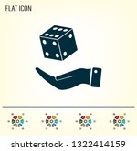 cubes for the game vector icon.   Shutterstock .eps vector #1322414159