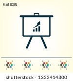 infographics on the stand ... | Shutterstock .eps vector #1322414300