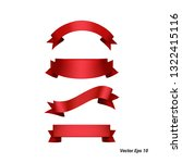 red bow or ribbon isolated on...   Shutterstock .eps vector #1322415116