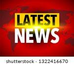 latest news world icon | Shutterstock .eps vector #1322416670
