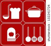 vector kitchen symbols | Shutterstock .eps vector #132241724