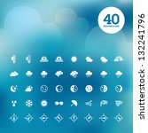 set of weather icons | Shutterstock .eps vector #132241796