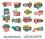 sale badges. advertising promo... | Shutterstock .eps vector #1322419379