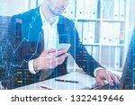 unrecognizable businessman... | Shutterstock . vector #1322419646