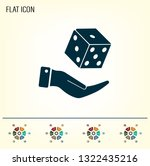 cubes for the game vector icon. | Shutterstock .eps vector #1322435216