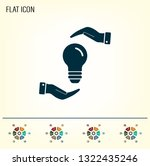 electric light bulb in the... | Shutterstock .eps vector #1322435246