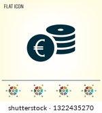 money  coins  stateroom vector... | Shutterstock .eps vector #1322435270