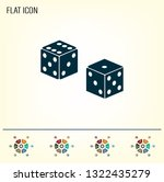 cubes for the game vector icon. | Shutterstock .eps vector #1322435279