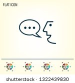 the face of a talking person ... | Shutterstock .eps vector #1322439830