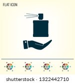 perfume  eau de toilette ... | Shutterstock .eps vector #1322442710