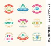 summer holidays labels and... | Shutterstock .eps vector #1322444726
