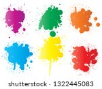 vector collection of artistic... | Shutterstock .eps vector #1322445083