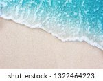 soft blue ocean wave on clean... | Shutterstock . vector #1322464223