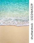 Soft Blue Ocean Wave On Clean...