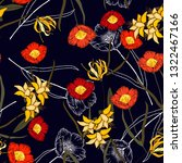 freehand flowers seamless... | Shutterstock .eps vector #1322467166