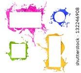 Colored splashes frames...