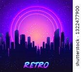 retro futurism. vector...   Shutterstock .eps vector #1322477900