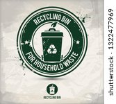 alternative recycling bin stamp ... | Shutterstock . vector #1322477969