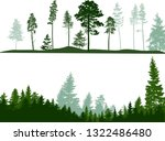 illustration with high pines... | Shutterstock .eps vector #1322486480