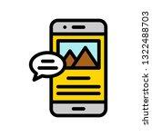 mobile content vector  social...