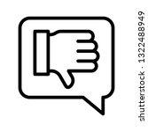 thumb down in speech bubble...