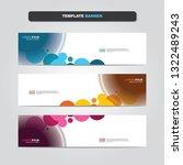 vector abstract web banner... | Shutterstock .eps vector #1322489243