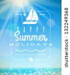 summer holiday vector... | Shutterstock .eps vector #132249368