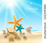 summer holidays illustration  ... | Shutterstock .eps vector #132249383