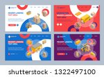 logistic delivery cargo service ... | Shutterstock .eps vector #1322497100