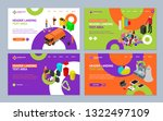 garbage recycling concept... | Shutterstock .eps vector #1322497109