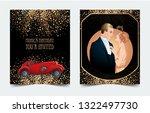 beautiful couple in art deco... | Shutterstock .eps vector #1322497730