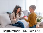happy mother's day  child son...   Shutterstock . vector #1322505170
