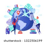 fly around the world  travel... | Shutterstock .eps vector #1322506199