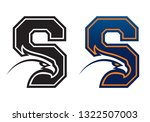 letter s with eagle head. great ...   Shutterstock . vector #1322507003
