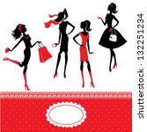 set of silhouettes of... | Shutterstock .eps vector #132251234