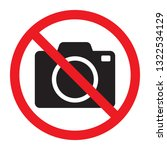 no cameras allowed sign. red... | Shutterstock .eps vector #1322534129