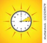 sun clock summer time daylight... | Shutterstock .eps vector #1322539079
