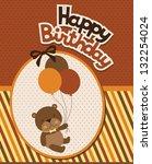 happy birthday card design.... | Shutterstock .eps vector #132254024