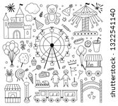 outline amusement park vector... | Shutterstock .eps vector #1322541140