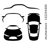 vector. 4 icons. cars. | Shutterstock .eps vector #132254300