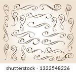 calligraphic elegant elements... | Shutterstock .eps vector #1322548226