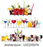 set of different alcoholic... | Shutterstock . vector #132255074