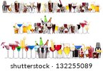 set of different alcoholic... | Shutterstock . vector #132255089