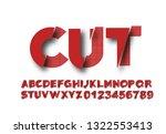 modern abstract font  set of... | Shutterstock .eps vector #1322553413