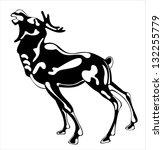 deer isolated on white...   Shutterstock . vector #132255779