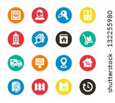 real estate icons | Shutterstock .eps vector #132255980