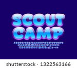vector bright badge scout camp... | Shutterstock .eps vector #1322563166