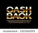 vector golden emblem cash back... | Shutterstock .eps vector #1322563553