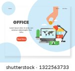 office landing page template....   Shutterstock .eps vector #1322563733